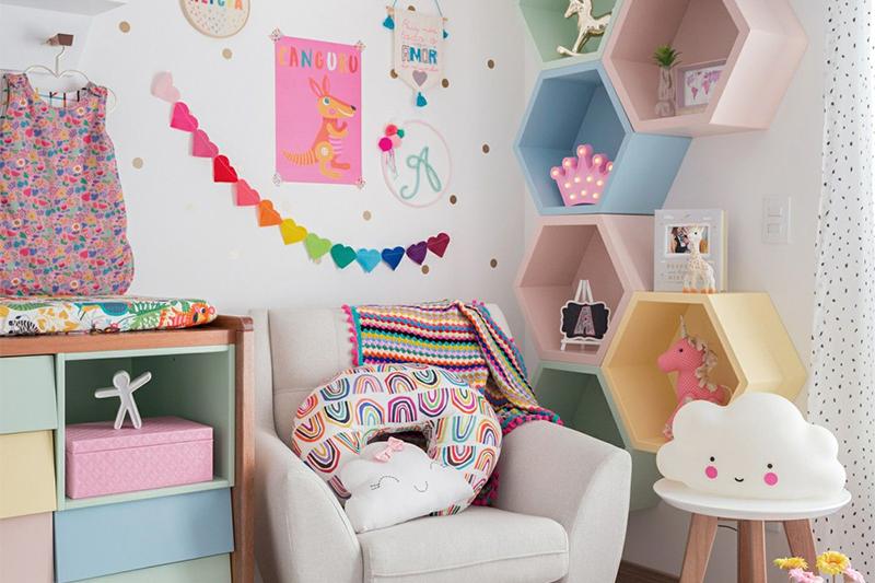 شلف دیواری اتاق کودک